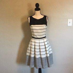 Taylor Polka-Dot Polyester / Spandex dress